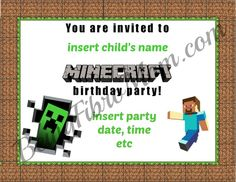 Free Minecraft Printables and DIY Party Instructions