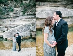 Glittering Waterside Maternity Session - Inspired By This