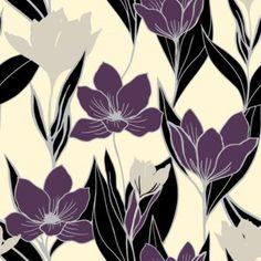A.S. Creation Gendoa Vinyl Cream & Purple Wallpaper: Image 1