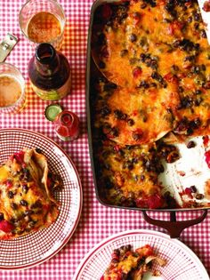 Black Bean Enchilada Casserole from The Casserole Queens