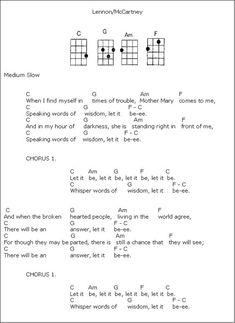 Best representation descriptions: <b>Easy Ukulele Chords Beatles Let It Be</b><br/><br/><i>Related searches:</i><font Michelle Beatles Chords,Beatles Albums,Beatles News,Beatles Radio Ukulele Songs Beginner, Easy Guitar Songs, Guitar Chords For Songs, Music Chords, Guitar Sheet Music, Ukulele Tabs, Cool Ukulele, Lyrics And Chords, Guitar Chord Chart