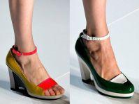 Color blocking nos calçados da coleção verão 2013 de Marc Jacobs.