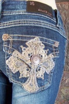 Grace in La Cross bling Western Embellished Capri jeans junior size 3  7 9 11 13 #GraceInLA #CapriCropped