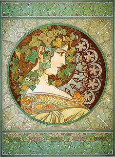"""Heaveninawildflower - thatsantonio: Alphonse Mucha, """"Laurel""""."""
