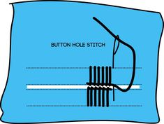Button Hole Stitch Sewing A Button, Hand Sewing, Button Hole Stitch, Sewing Stitches, Buttonholes, Buttons, Sewing By Hand, Stitches, Sewing Coat