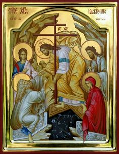 Christ is risen! Religious Images, Religious Icons, Religious Art, Church Icon, Religion, Christ Is Risen, Russian Icons, Religious Paintings, Jesus Resurrection