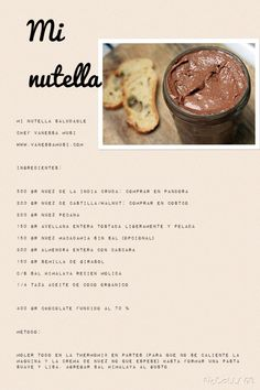 Mi super receta de nutella (nutella recipes eggless)
