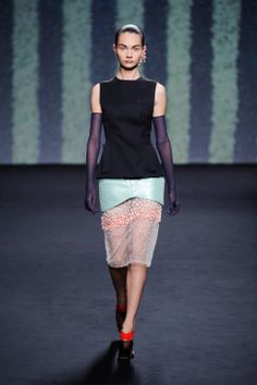 Christian Dior haute couture runway fashion Fall 2013
