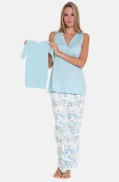 Olian 4-Piece Maternity Sleepwear Gift Set available at  Nordstrom Maternity  Nursing Pajamas 5a34f1894