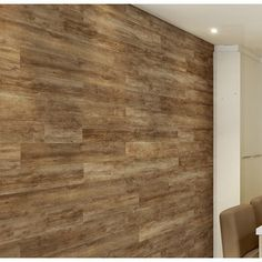 Allure Flooring W x L Peel and Stick Vinyl Wall Paneling Color: Northwest Oak Brown Vinyl Wall Panels, Wood Panel Walls, Wood Paneling, Wall Panelling, Plank Walls, Stick On Wood Wall, Peel And Stick Wood, Wall Wood, Allure Flooring