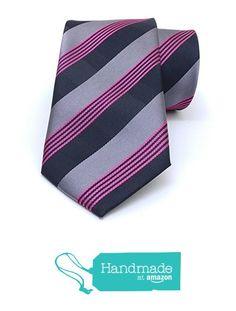 "Grey, black, red striped men's tie 7.5 cm (2,95"") SL-272 from Nazo Design… #handmadeatamazon #nazodesign"