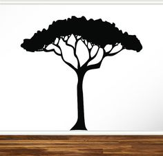 African Safari Tree Wall Decal Nursery Baby Kids Living Room Home Decor Art Sticker Removable Branches