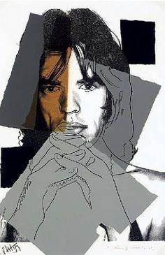 Andy Warhol - Portrait de Mick Jagger
