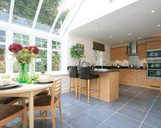 photo of conservatory kitchen kitchen extension