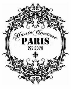"""""""Haute Couture Paris No 2378"""" graphic"""