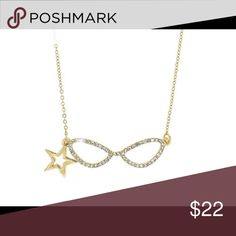 """Designer sunglasses accented with crystals star. Sparkling clear crystals and a polished goldtone star charm accent the designer-style 1 3/4"""" sunglasses on this fun 18"""" goldtone necklace. Jewelry Necklaces"""