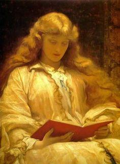 Frederic Leighton - la chica con el pelo dorado