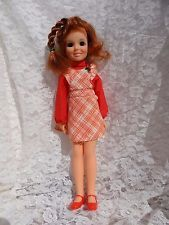 Vintage Ideal CRISSY Doll with Original Christmas Dress 1969 Hair Grow Swivels