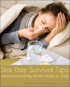 Sick Day Survival Tips: Homeschooling When Mom is Sick