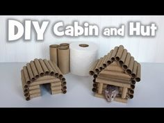 DIY Cabin and Hut Hideaways for Hamsters by Hammy Time Diy Guinea Pig Toys, Diy Rat Toys, Diy Bunny Toys, Diy Guinea Pig Cage, Guinea Pig House, Pet Guinea Pigs, Hamster Diy Cage, Diy Hamster Toys, Gerbil Cages