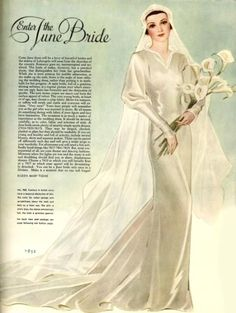 McCall 7852 | 1934 Bridal Gown