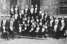 Cecil Rhodes at the Bullingdon Club (seated second left on front row)