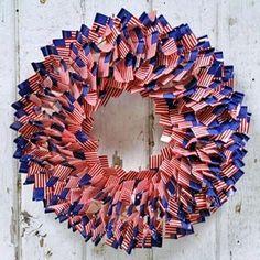 Fourth of July Flag pick wreath Dejavu*Crafts