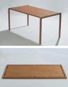 Amazing collapsible table. I wish all the tables at the shop could do this!