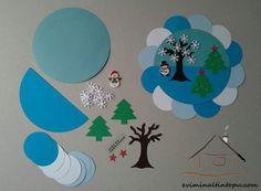 renkli kağıtlardan mevsim çalışması | Evimin Altın Topu
