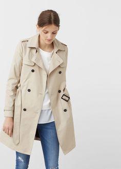 Classic cotton trench coat -  Women | MANGO USA