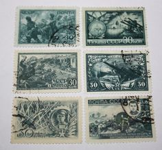 Postage stamps RUSSIA 1943-1945 POST OF RUSSIA, Collectibles,WORLD WAR II
