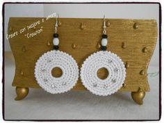 Orecchini ad uncinetto con strass by https://www.facebook.com/CreareconpassioneeamoreCreazioni/ … … … … … … … … … … #crochet #handmade #earrings #jewelry