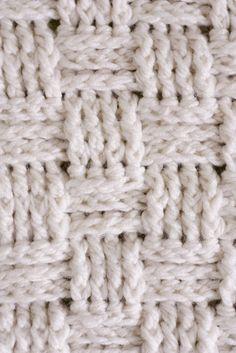 Basket weave baby blanket pattern