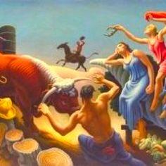Missouri 1889-Kansas City 1975 American Realism, American Artists, Thomas Hart Benton Paintings, Art Thomas, Social Realism, Modern Art Movements, Most Famous Artists, Art Oil, Portraits
