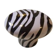 Zebra Animal Print Ceramic Cabinet Drawer Pull Knob - This would be neat to make in polymer clay