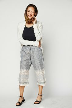The Nava-print Punjammies® are ethically-made loungewear with asymmetric  square markings f643c4e6c