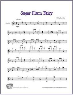 Sugar Plum Fairy Free Guitar Sheet Music Digital Print