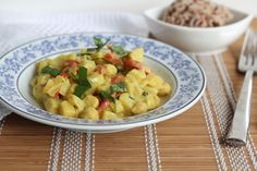Potato Curry with Mango and Basil