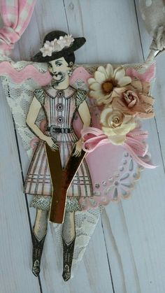 Banner I created by Brenda Enright using Character Constructions Doll Stamps by Catherine Moore. The Blue Daisy Collection.