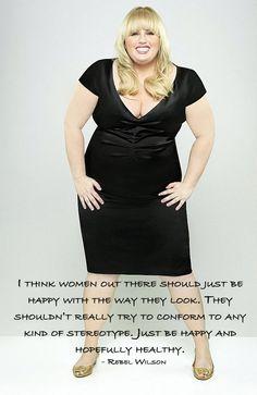 Rebel Wilson - Loving Your Body – Inspiring Quotes #penningtons #confidenceisbeautiful