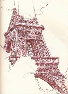 Eiffel tower Sketch
