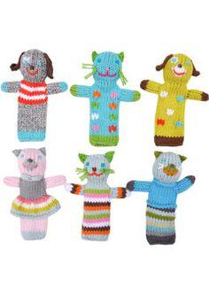 Blah Blah Dolls/Cat and Dog Finger Puppets
