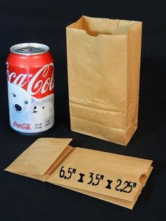 25 Small Mini Brown Paper Bags Kraft Craft Grocery Lunch Wedding Party Favor DIY #Kraft #AnyOccasion