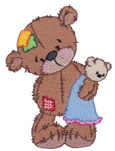 Embroidery   Free Machine Embroidery Designs   Bunnycup Embroidery   Raggedy Bears Too