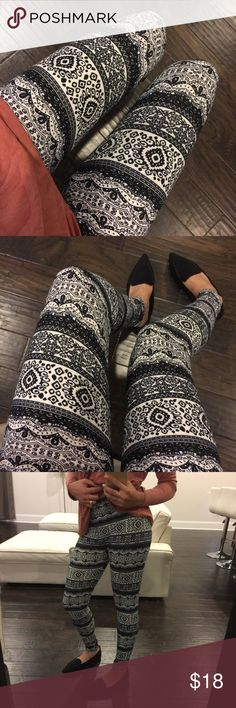 Mandala Leggings Everyone's favorite soft knit opaque leggings with elastic and at top and fleece lining. High rise. One size. Fits small (2) up to a large (up to 14) comfortably Viscosity Pants Leggings