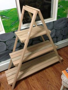 how to build an a frame plant stand