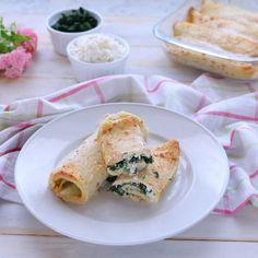 Crepes, Appetizer Recipes, Pasta Recipes, Cooking Recipes, Menu Rapido, Cannelloni Ricotta, Confort Food, No Salt Recipes, Vegetarian