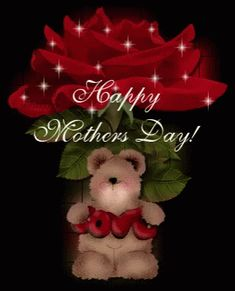 Happy Mother's Day pink red bear mom mother red rose happy mother's day mother's day thank mom mother's day gif love mom Happy Mothers Day Pictures, Happy Mothers Day Wishes, Mothers Day Gif, Mother Day Message, Happy Mother Day Quotes, Mothers Day Cards, Mothers Love, Mother Quotes, Birthday Greetings