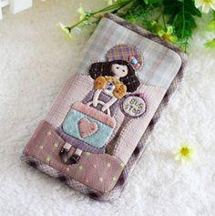 先染拼布材料包旅行女孩長款錢夾錢包手工布藝DIY材料包售完紀念