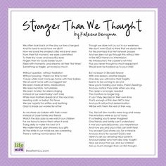 To All My Preemie Parents - We Are Stronger than we Thought